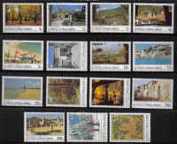 Cyprus Stamps SG 648-62 1985 6th Definitives Scenes - MINT