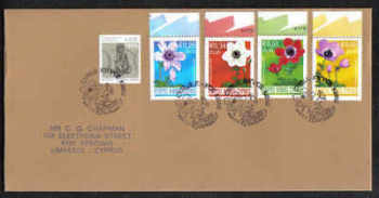 Cyprus Stamps SG 1158-61 2008 Anemone - Unofficial FDC (a249)