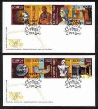 Cyprus Stamps SG 1170-77 2008 Cyprus Through The Ages Part 2 - Official FDC  (a255)