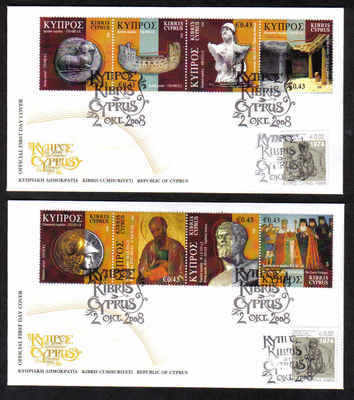 Cyprus Stamps SG 1170-77 2008 Cyprus through the ages Part 2 - Unofficial F