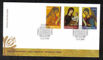 Cyprus Stamps SG 1178-80 2008 Christmas - Official FDC (a146)