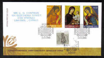 Cyprus Stamps SG 1178-80 2008 Christmas - Unofficial FDC (a259)