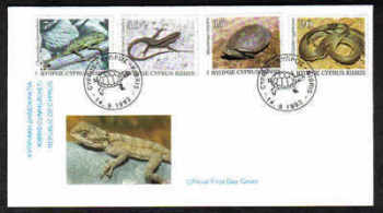 Cyprus Stamps SG 822-25 1992 Reptiles - Offiial FDC