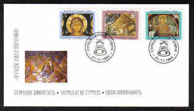 CYPRUS STAMPS SG 860-62 1994 FDC CHRISTMAS (a232)