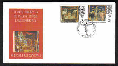 CYPRUS STAMPS SG 922-23 1997 FDC EASTER (a237)