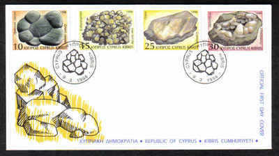 Cyprus Stamps SG 934-37 1998 Minerals Geology - Official FDC