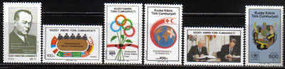 North Cyprus Stamps SG 240-45 1988 Anniversaries and Events - MINT