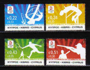 Cyprus Stamps SG 1165-68 2008 Bejing Olympic Games - MINT