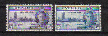 Cyprus Stamps SG 164-65 1946 Victory King George VI - MINT