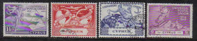 Cyprus Stamps SG 168-71 1949 KGVI Universal Postal Union - USED (a312)