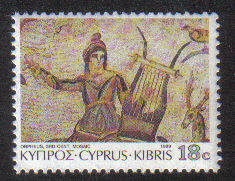 Cyprus Stamps SG 764 1989 18 cent Orpheus - MINT