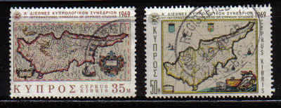 Cyprus Stamps SG 329-30 1969 1st Cypriot Studies - USED (a348)