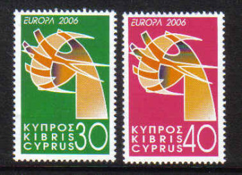 Cyprus Stamps SG 1110-11 2006 Europa Integration  -  MINT