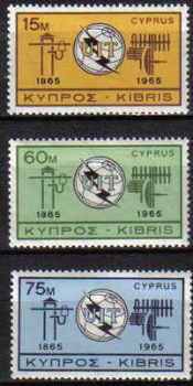 CYPRUS STAMPS SG 262-64 1965 I.T.U. - MLH