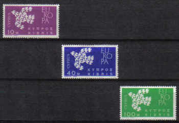 Cyprus Stamps SG 206-08 1962 Europa Doves - MINT