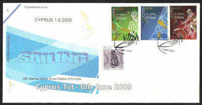 Cyprus Stamps SG 1190-92 2009 XIII Games of the Small States of Europe Sail
