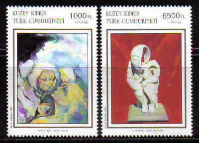 North Cyprus Stamps SG 369-70 1994 Art 12th Series - MINT