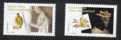 North Cyprus Stamps SG 687-88 2009 Archeology - MINT