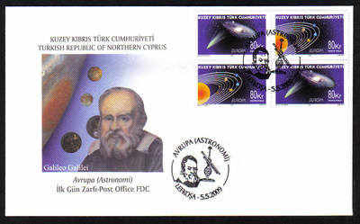North Cyprus Stamps SG 689-90 2009 Europa Astronomy - Official FDC
