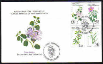 North Cyprus Stamps SG 691-94 2009 Medical Plants - Official FDC