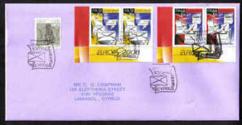 Cyprus Stamps SG 1162-63 2008 Europa the letter Pairs - Unofficial FDC (a470)
