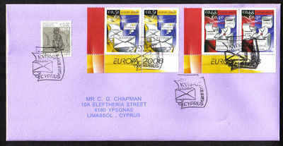 Cyprus Stamps SG 1162-63 2008 Europa the letter Pairs - Unofficial FDC (a47