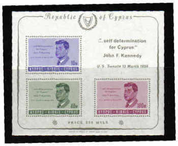 Cyprus Stamps SG 258a MS 1965 J F Kennedy - MINT