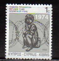 Cyprus Stamps 1992 Refugee fund tax SG 807 - MINT