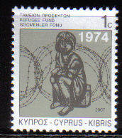 Cyprus Stamps 2007 Refugee Fund Tax SG 807 - MINT