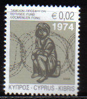 Cyprus Stamps 2008 Refugee Fund Tax SG 1157 - MINT