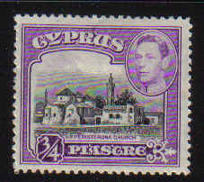 Cyprus Stamps SG 153 1938 3/4 Piastre - MLH