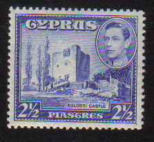 Cyprus Stamps SG 156 1938 2 1/2 Piastre - MLH