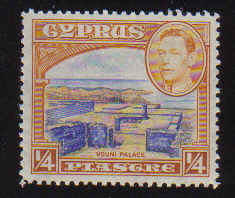 Cyprus Stamps SG 151 1938 1/4 Piastre - MINT