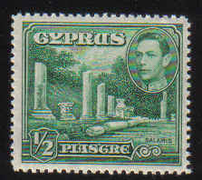 Cyprus Stamps SG 152 1938 1/2 Piastre (green) - MLH