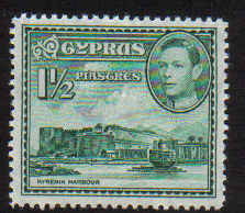 Cyprus Stamps SG 155ab 1951 1 and 1/2 Piastres - MINT