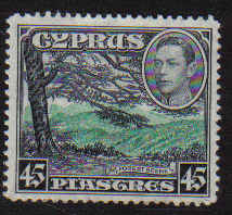 Cyprus Stamps SG 161 1938 45 Piastres - MLH