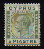 Cyprus Stamps SG 118 1925 1/2 Piastre King George V - MINT