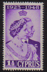 CYPRUS STAMPS SG 166 1948 ROYAL SILVER WEDDING - MLH