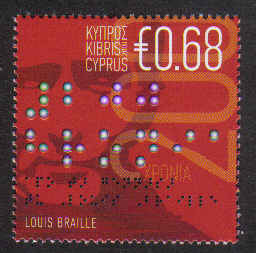 Cyprus Stamps SG 1185 2009 Louis Braille 200th Birth Anniversary - MINT