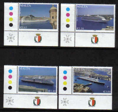 Malta Stamps SG 1603-1606 2008 Cruise liners - MINT  (a515)