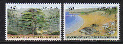 Cyprus Stamps SG 969-70 1999 Europa parks and gardens- MINT