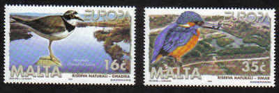 MALTA STAMPS SG 1098-99 1999 Europa, Parks and Gardens - Mint