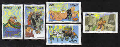MALTA STAMPS SG 1107-11 1999 Tourism Year - MINT