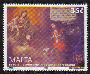 MALTA STAMPS SG 1132 1999 Mellieha Sanctuary Commemoration - MINT
