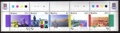 MALTA STAMPS SG 1102-06 1999 125th Anniversary of the UPU - MINT (a514)