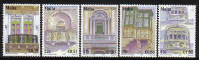 MALTA STAMPS SG 1535-39 2007 Maltese balconies - mint