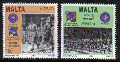 MALTA STAMPS SG 1541-42 2007 Centenary of scouting - mint