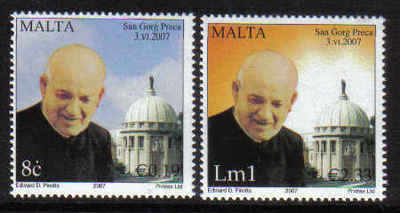 MALTA STAMPS SG 1543-44 2007 Canonization of Dunn Gorg Preca - mint