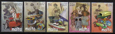 MALTA STAMPS SG 1545-49 2007 Toys from days gone by - mint