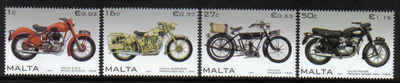 MALTA STAMPS SG 1553-56 2007 Motorcycles - mint